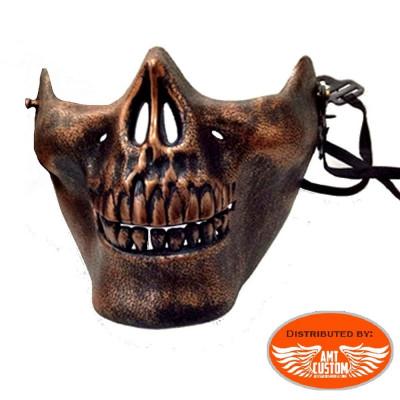 Masque Couvre Casque Biker Tête de Mort