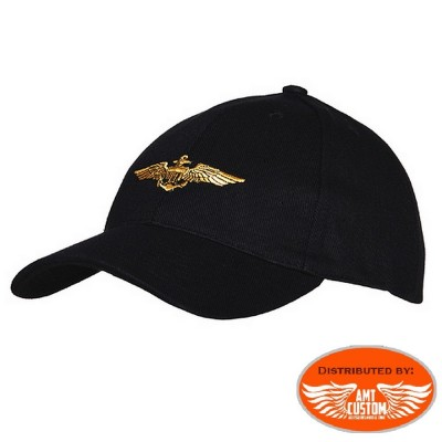 Casquette US Navy Biker custom