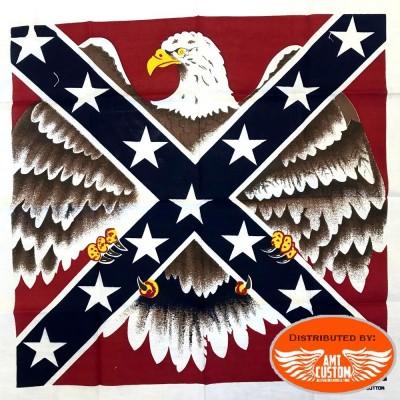 Bandana drapeau rebel aigle déployé