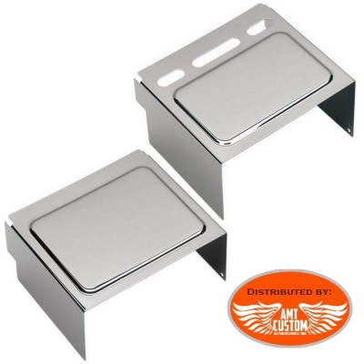 Couvercle Cache batterie chrome Sportster Dyna Harley Davidson
