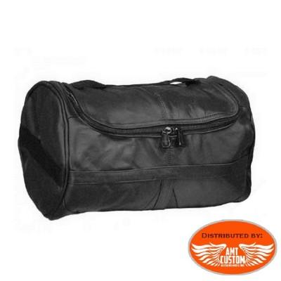 Leather duffel - sissy bar bag Custom bike