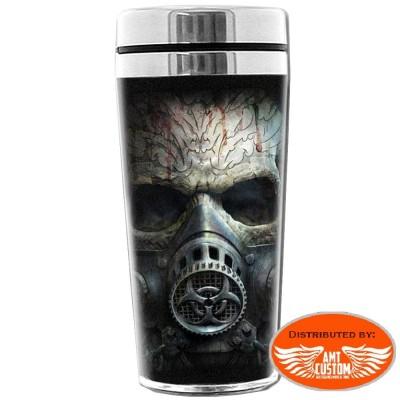 "Insulated thermos mug ""Bio-Skull"""