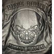 Leather Biker Jacket Skull Hells-Design