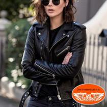 Blouson Perfecto Femme Cuir uni Hells-Design