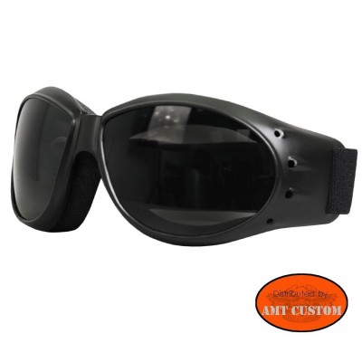 Biker Motorcycle glasses smoked lenses