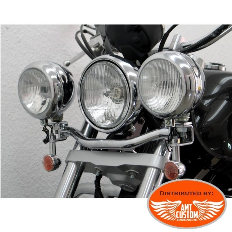 Honda Spotlight Bracket chrome Shadow VT750S de 2010 et 2011 (RC58)