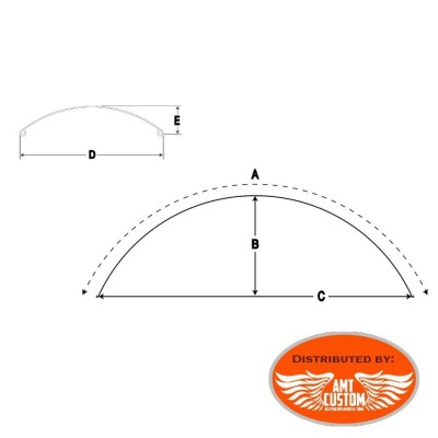 "Dimensions Universal Front fender Bobber tire 16"" to 19"" Honda Yamaha Kawasaki Suzuki Harley"