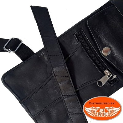 Leather leg bag  Motorcycle and Trike