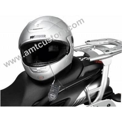 Cadenas anti-vol moto casques, sacoches moto trike bagages harley