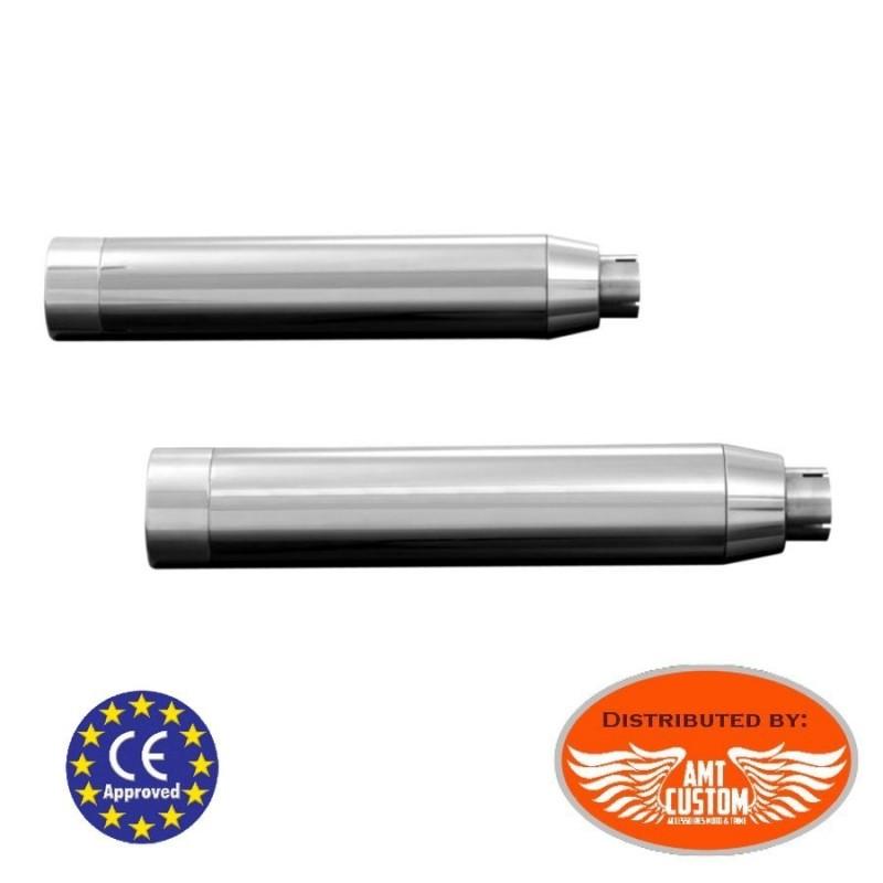 Indian Scout Straightcut Chrome Silencieux Screamin Eagle Homologués Euro 4 pour Scout, Bobber et Sixty