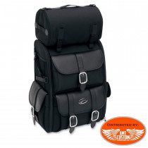 Sissy bar Bag DELUXE 57,4 Liter luggage With Roll bag motorcycles choppers customs