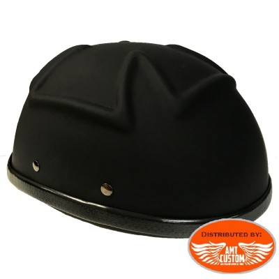 Casque Bol noir mat Croix de malte moto custom