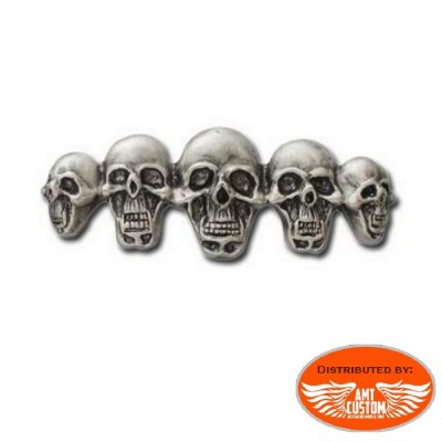 Badge Pin Biker Family Skull