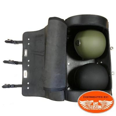 Sacoche sissy bar Top case cuir sécurité verrouillable pour Custom et Trikes