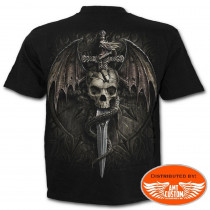 "Tee shirt Biker ""Draco Skull""."
