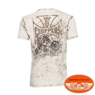 Tee-shirt  West Coast Choppers American Outlaw