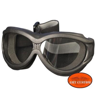 Lunettes masque Biker Moto custom et Trike. - Incolore  protection des yeux décoartion du casque moto custom harley