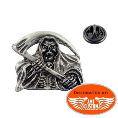 Pin's métal Squelette Reaper Face