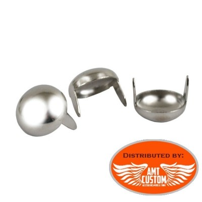 Lot de 25 rivets clous chrome custom
