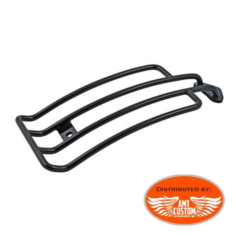 Sportster Black Solo Rack Luggage for Harley XL883 and XL1200 Solo Seat from 1985 to 2003