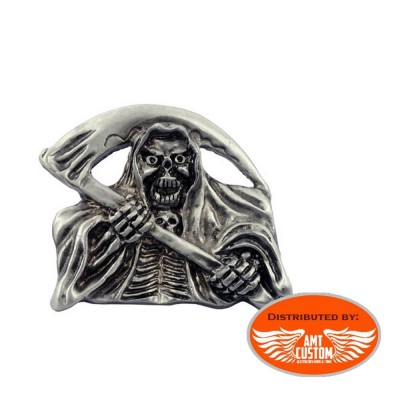 Emblem Metal Chrome Skeleton Reaper Sons Of Anarchy