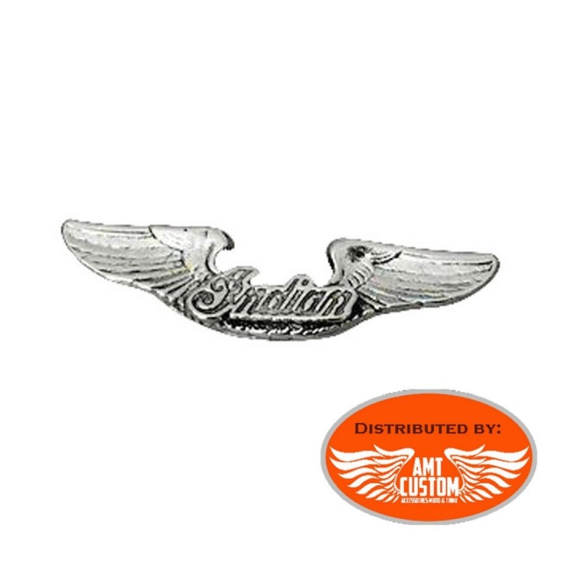 Pin Chrome Biker Indian Eagle wings