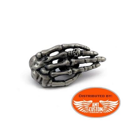 Pin's métal Squelette main
