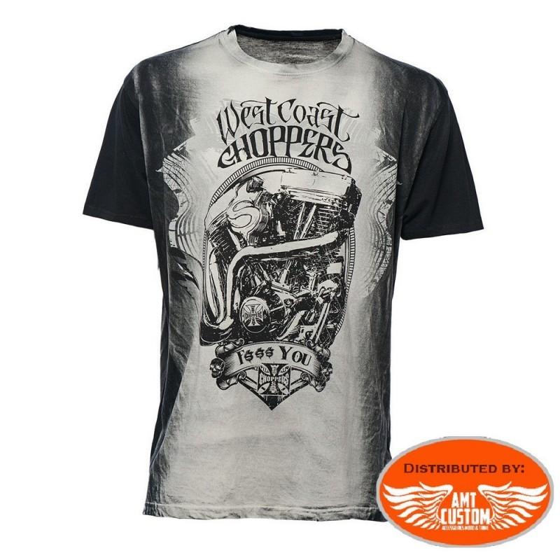 "Tee-shirt  West Coast Choppers vintage ""F... You""."