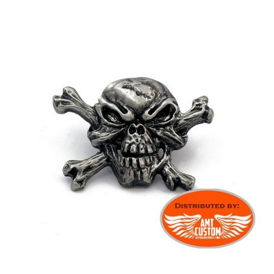 Pin Skull motorcycle