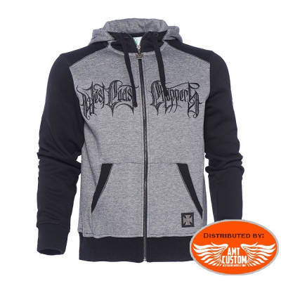 Sweat à Capuche Biker West Coast Choppers Gris