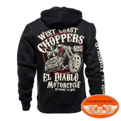 "Sweat à Capuche Biker West Coast Choppers ""El Diablo"""