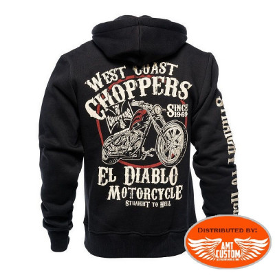 "Sweat à Capuche Biker West Coast Choppers ""El Diablo"""