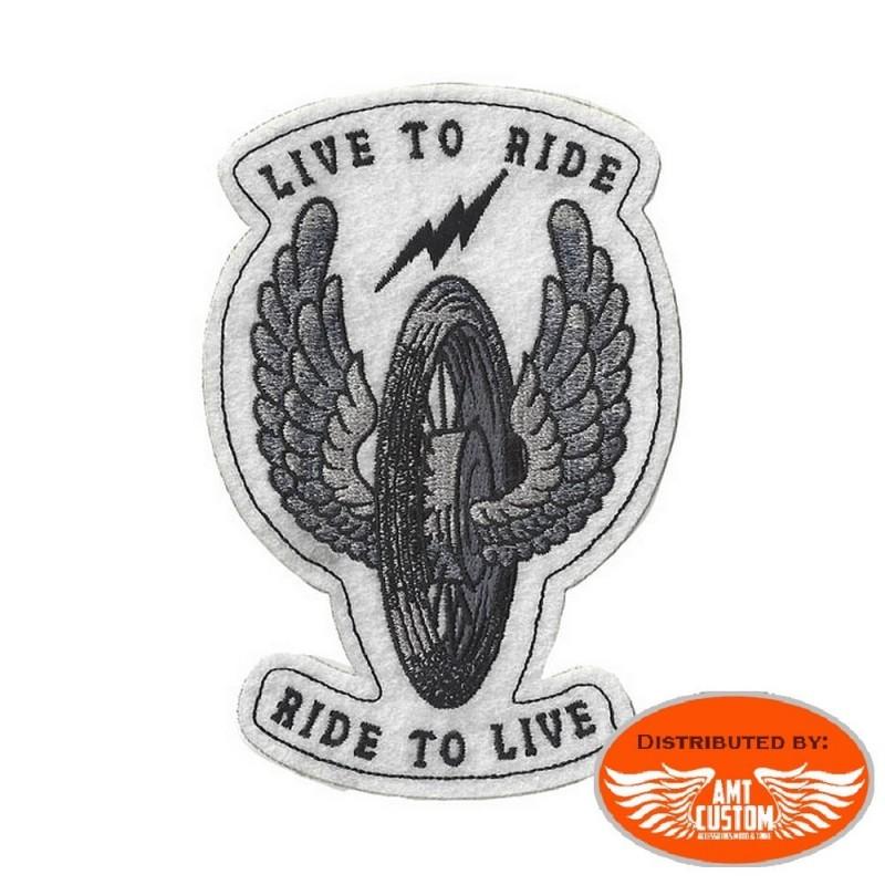 Winged wheel Lethal Patch Biker jacket vest