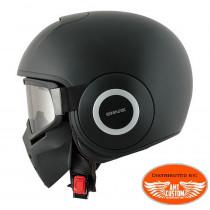 Matte Black Helmet Biker Jet Shark