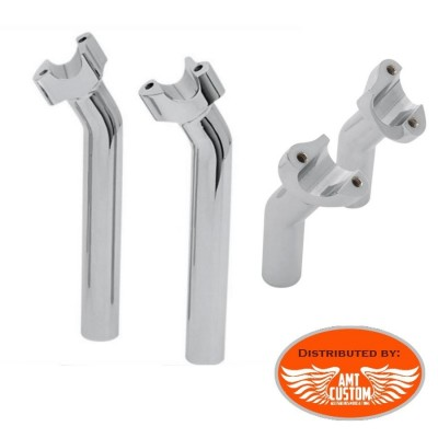 "2x Risers Pullback Chrome handlebar 25mm (1 "")"