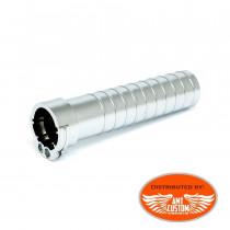 """Throttle accélérateur tire câbles chrome Poignées Universelles 25mm (1"""")"""