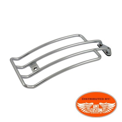 Sportster 85-03 Chrome Solo Rack Luggage for Harley XL883 and XL1200 Solo Seat