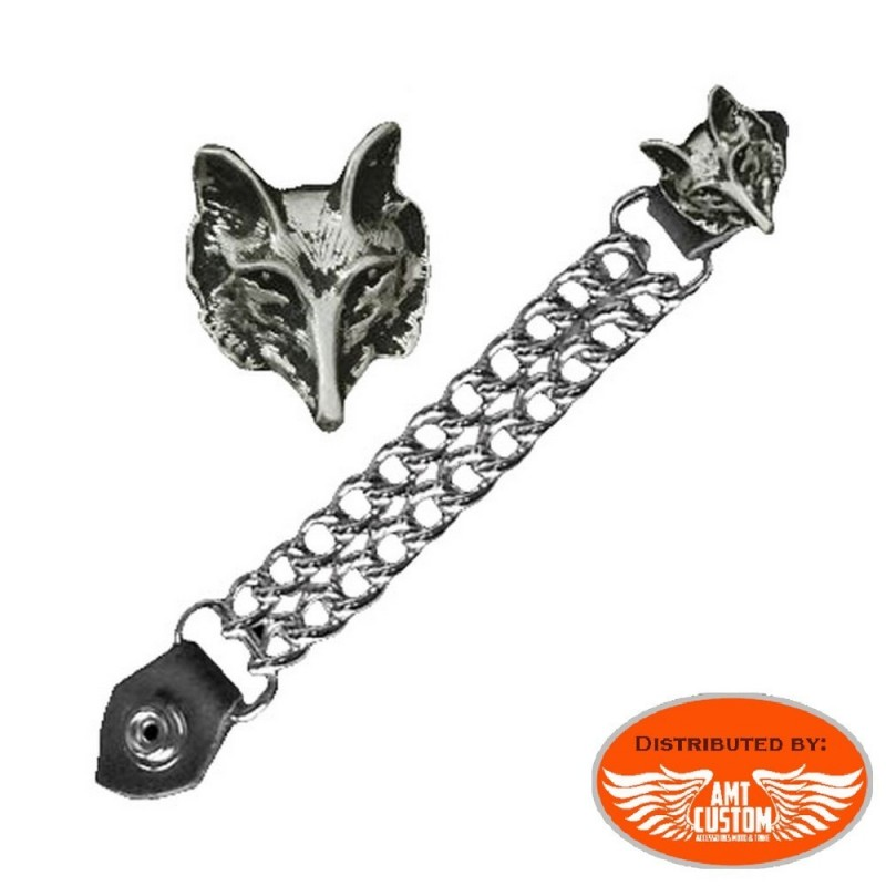 Wolf Chain extension for biker vest