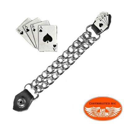 Poker Chain extension for biker vest