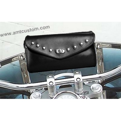 Sacoche pare brise Moto custom à clous harley trike