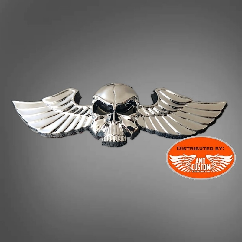 Skull and wings sticker 3D motorcycles