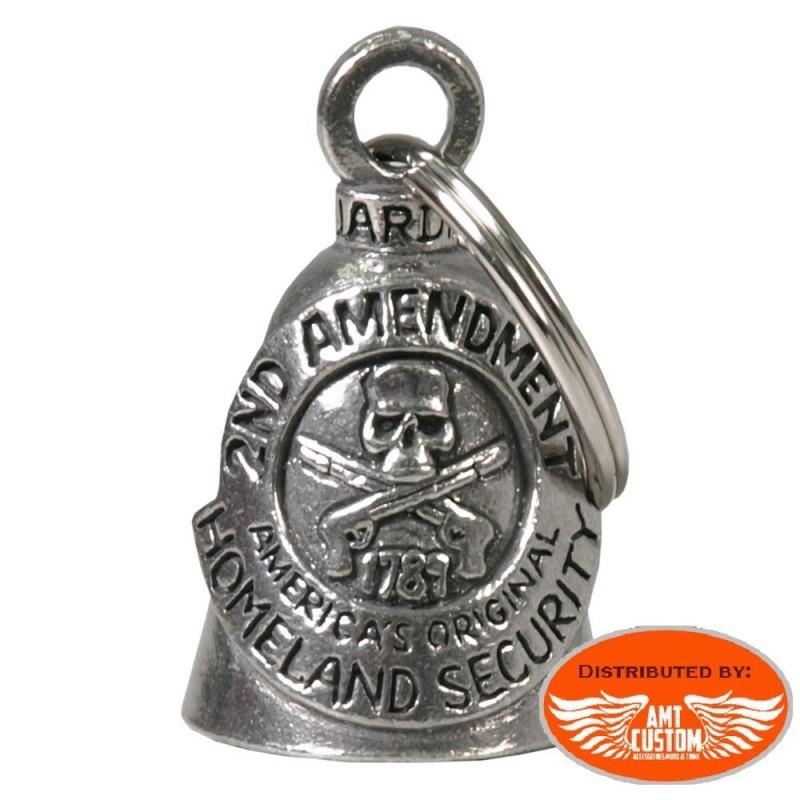 Clochette porte-bonheur Skull 2nd Amendment Guardian Bell