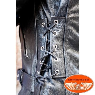 Leather Biker Perfecto Jacket Hells-Design