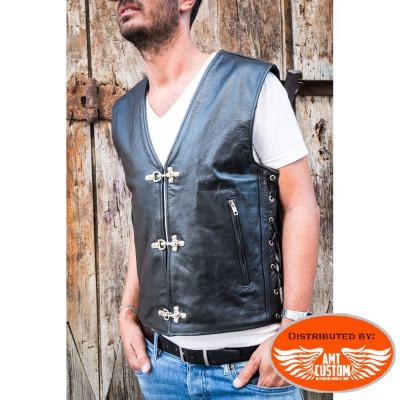 Leather Vest biker clips