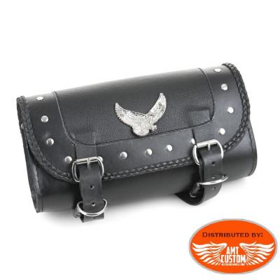 Sacoche outils cuir Aigle - fourche moto