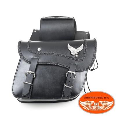 Sacoches cavalières cuir Aigle - moto Custom