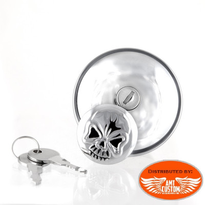 Chrome Skull Gas Cap for Harley Davidson from 1996 till today