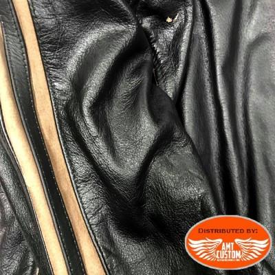 A-Pro Scratcher leather jacket CE approved.