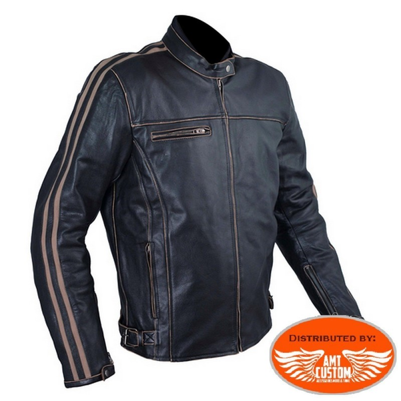 A-Pro Scratcher leather jacket CE approved.