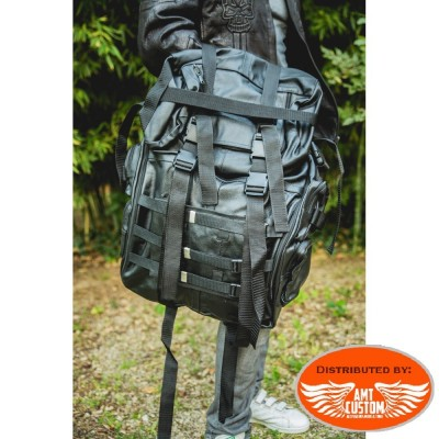 Sissy bar Bag leather luggage for motorcycles choppers customs